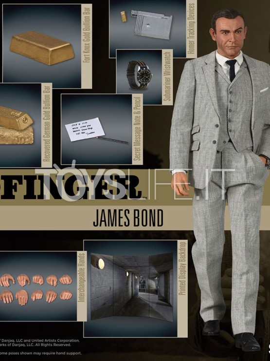 Big Chief 007 Goldfinger Sean Connery 1 6 Figure Toyslife