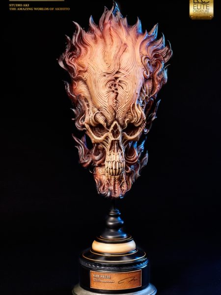 elite-creature-collectibles-aki's-fire-skull-bust-toyslife-icon