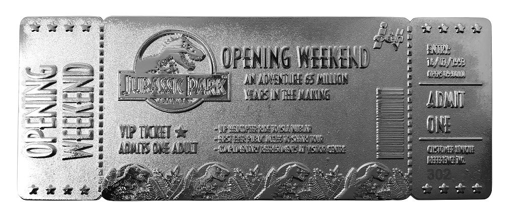 fanattik-jurassic-park-opening-weekend-vip-ticket-silver-plated-replica-toyslife