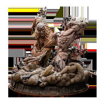 figurama-attack-on-titan-eren-vs-armored-titan-exclusive-statue-toyslife