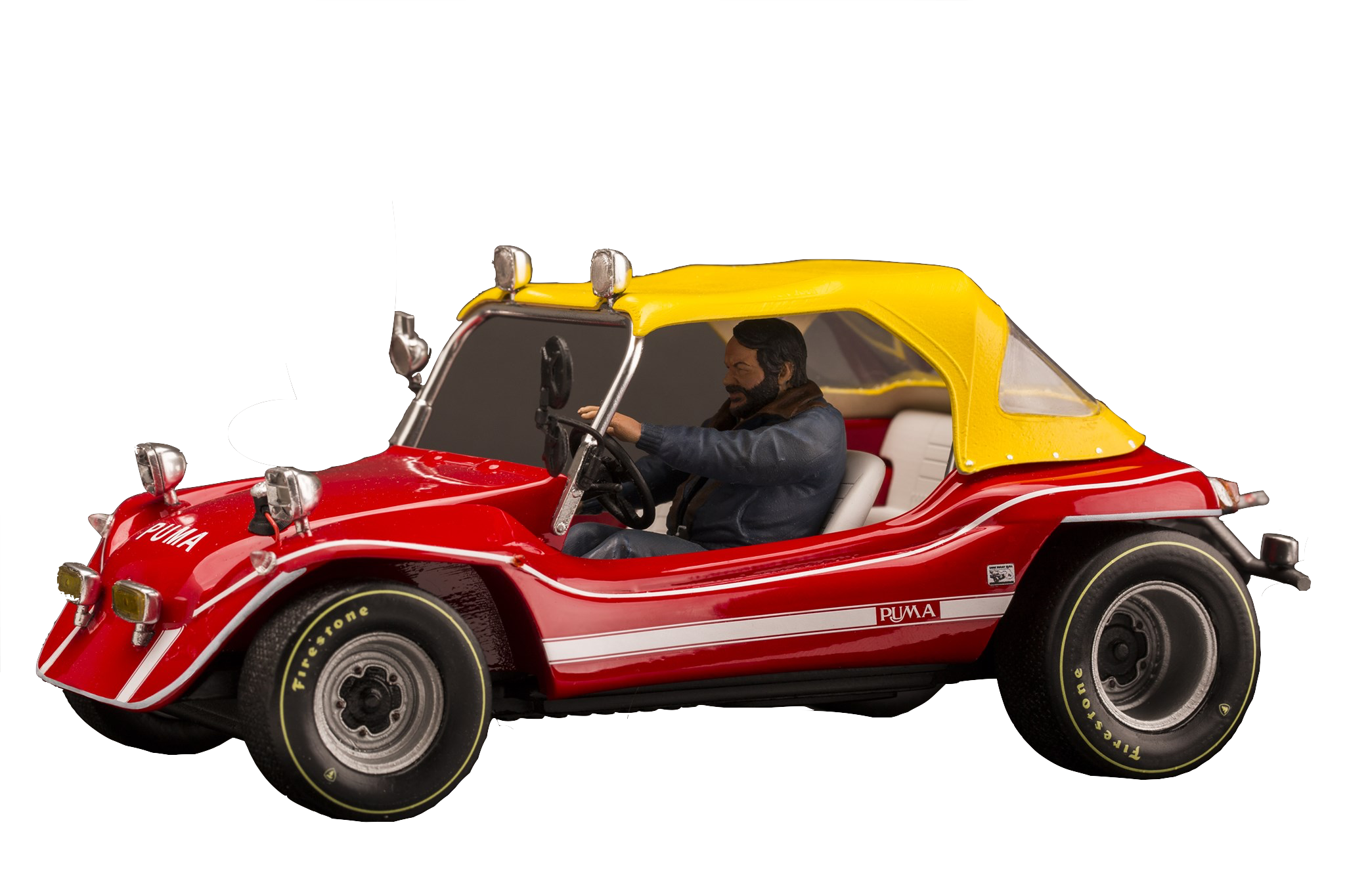 infinite-statue-bud-spencer-on-dune-buggy-1:18-statue-toyslife