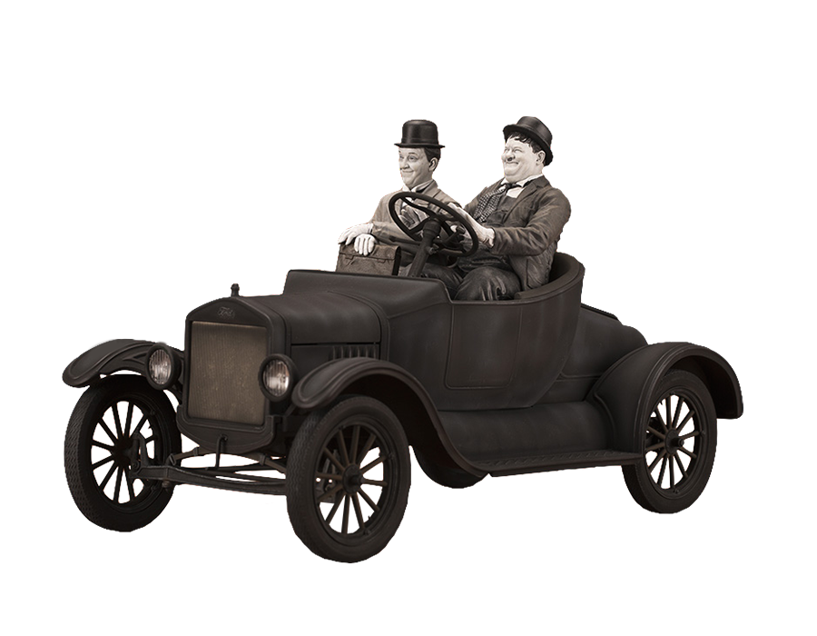infinite-statue-old&rare-laurel-and-hardy-on-model-t-1_12-statue-toyslife
