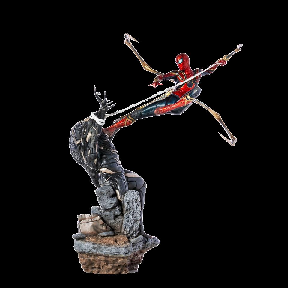 iron-studios-marvel-avengers-endgame-spiderman-vs-outrider-1:10-statue-toyslife