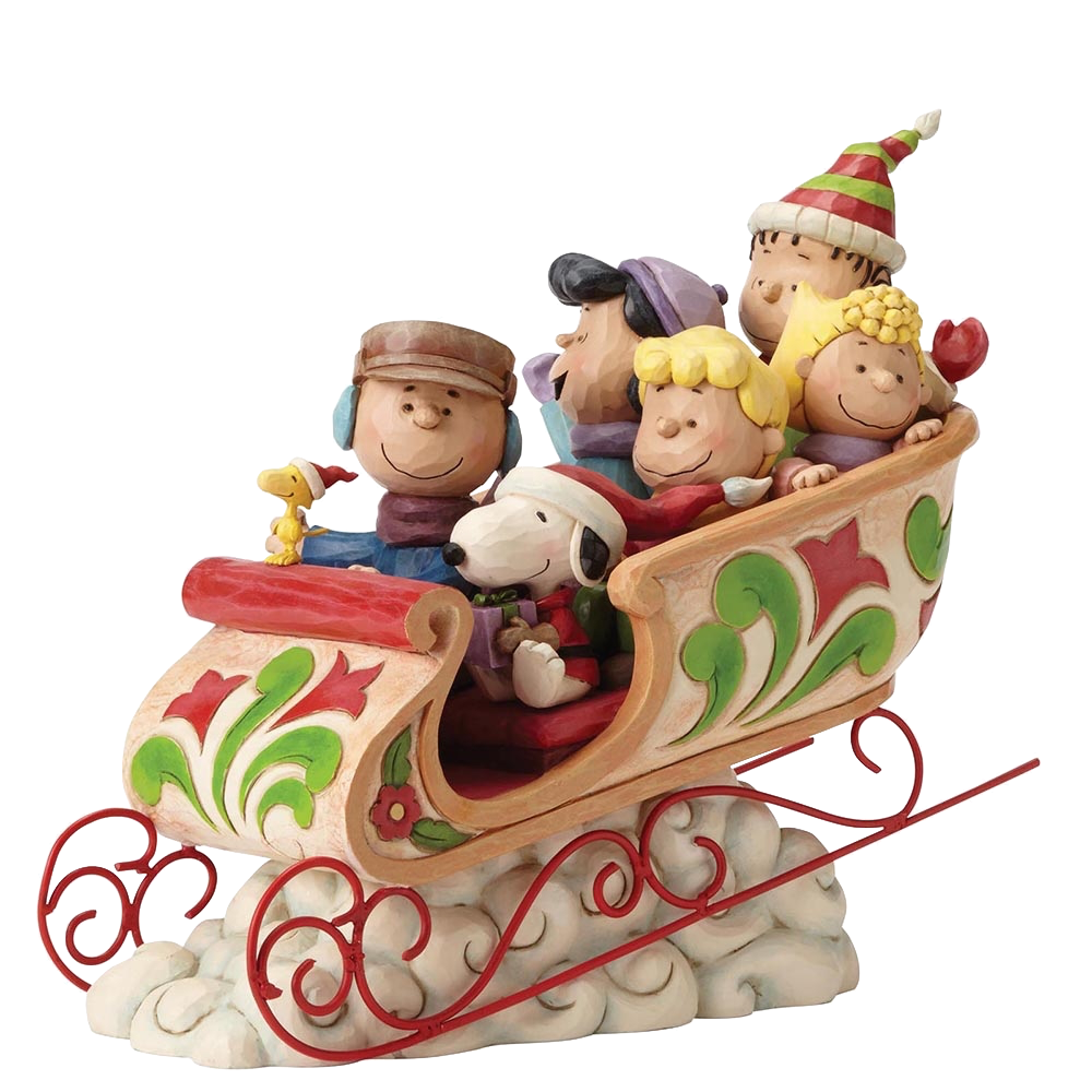 jim-shore-peanuts-charlie-brown-and-snoopy-gang-christmas-sleigh-toyslife