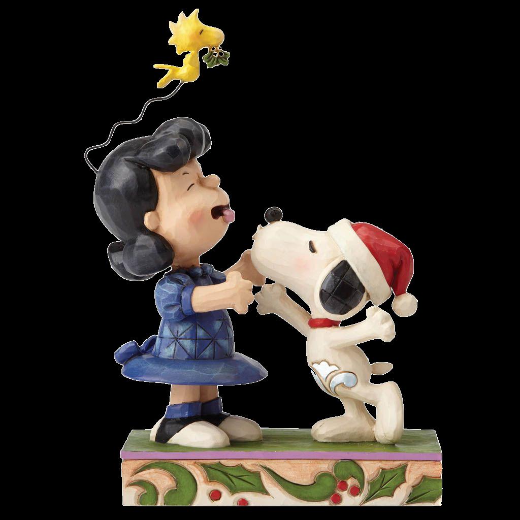 jim-shore-peanuts-snoopy-&lucy-mistletoe-mischief-toyslife