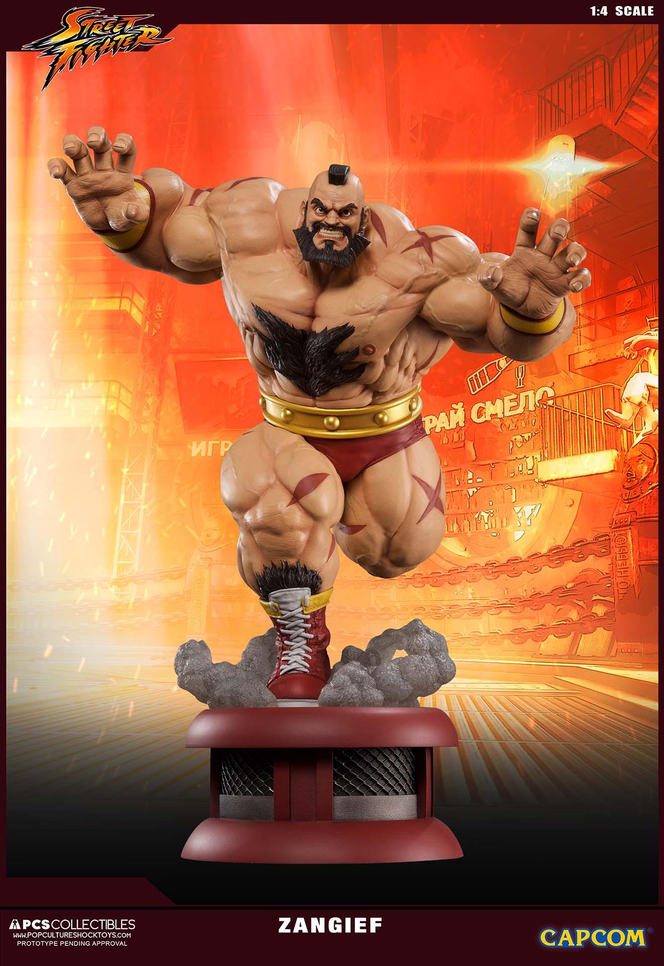 Pop Culture Shock Street Fighter Zangief 1 4 Statue Toyslife