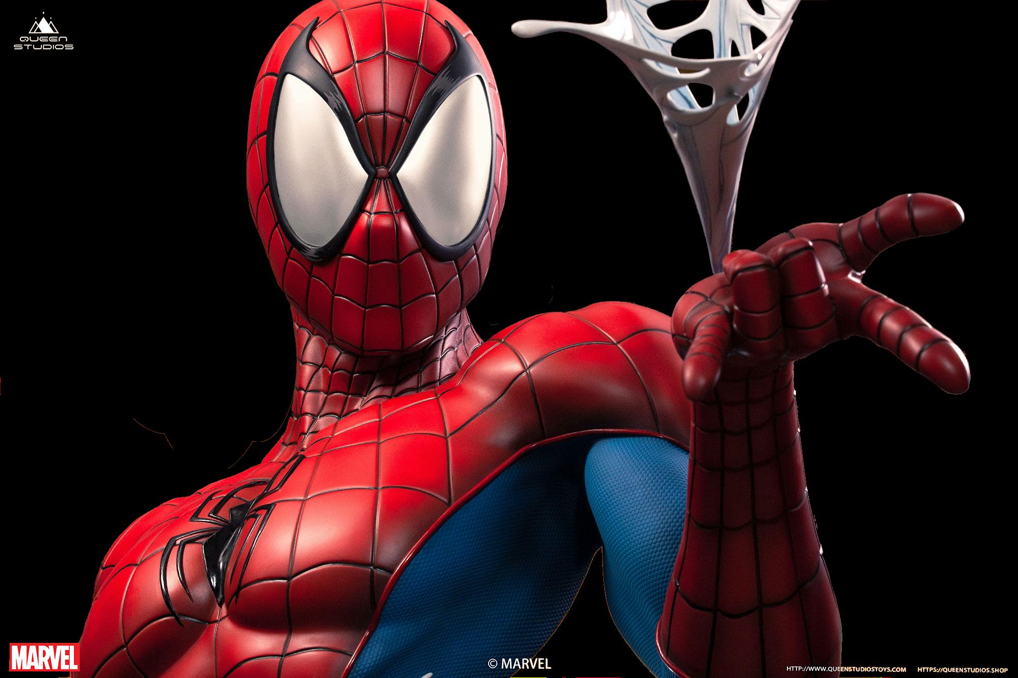 queen-studios-marvel-comics-spiderman-classic-lifesize-bust-toyslife