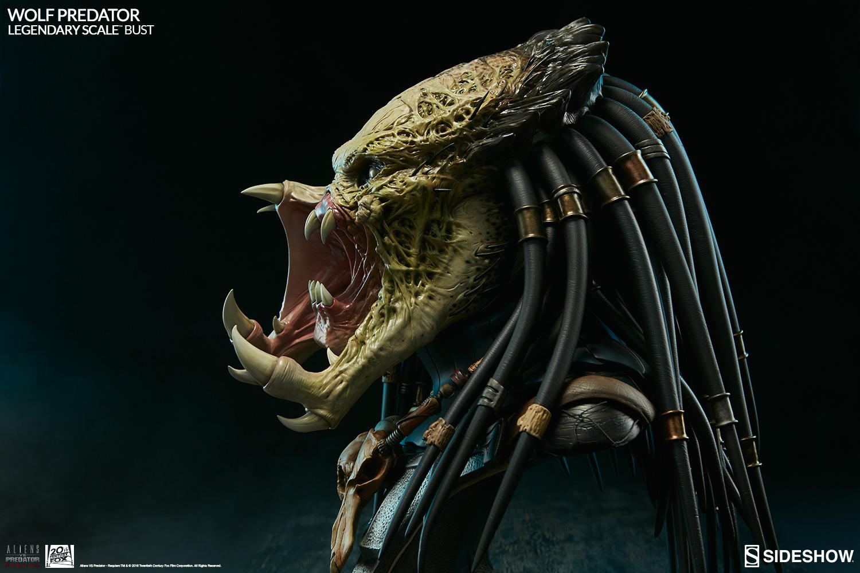 Sideshow Alien Vs Predator Wolf Predator Legendary Bust