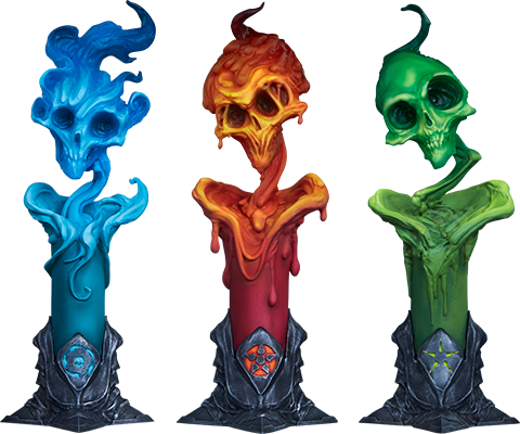 sideshow-court-of-the-dead-the-lighter-side-of-the-darkness-factions-candle-3-pack-set-toyslife