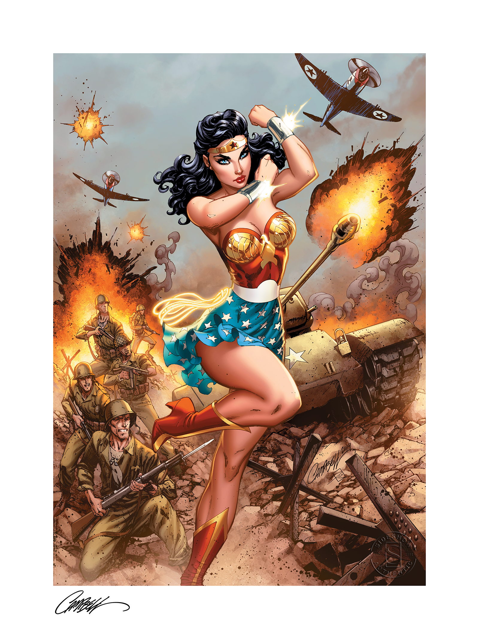 sideshow-dc-comics-wonder-woman-#750-ww2-unframed-art-print-by-j.s.-campbell-toyslife