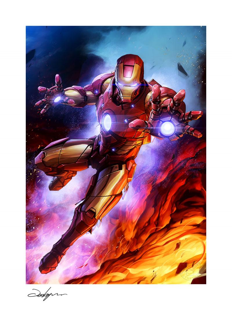sideshow-marvel-comics-ironman-custom-edition-#1-unframed-art-print-toyslife-02