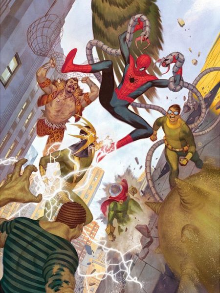 sideshow-marvel-comics-spiderman-vs-sinister-six-exclusive-art-print-toyslife-icon