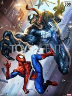 sideshow-marvel-spiderman-vs-venom-unframed-limited-art-print-toyslife-icon