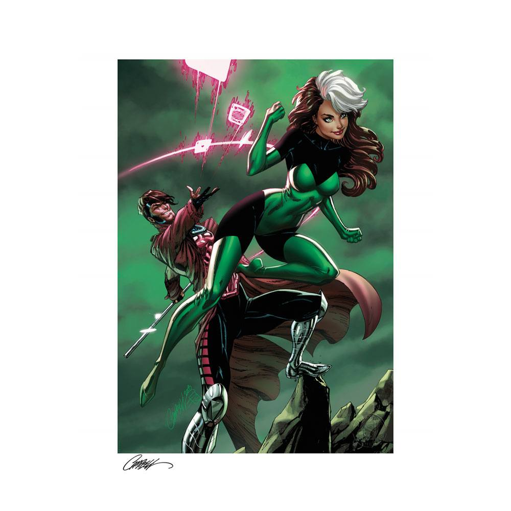 sideshow-marvel-uncanny-x-men-rogue-&-gambit-unframed-art-print-by-js-campbell-toyslife