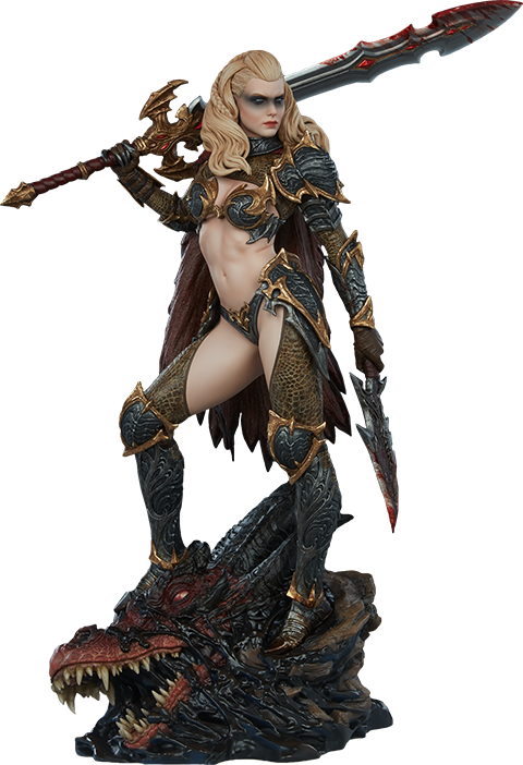sideshow-originals-dragon-slayer-warrior-forged-in-flame-statue-toyslife