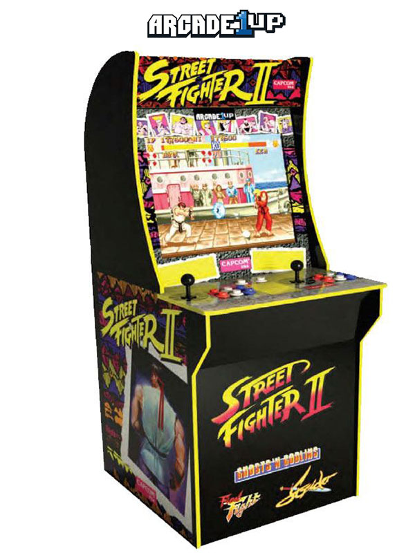 Arcade1Up Mini Cabinet Arcade Game Street Fighter/Ghost 'n Goblins/Final Fight/Strider II 122 cm