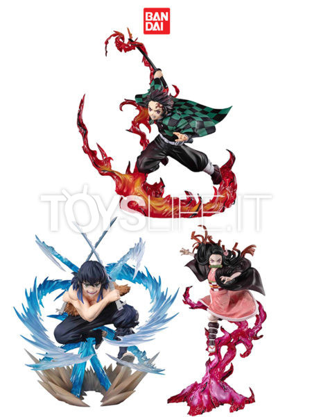 Bandai Demon Slayer Kimetsu No Yaiba Inosuke Beast Breathing/ Nezuko Blood Demon/ Tanjiro Total Concentration Breath Figuarts Zero