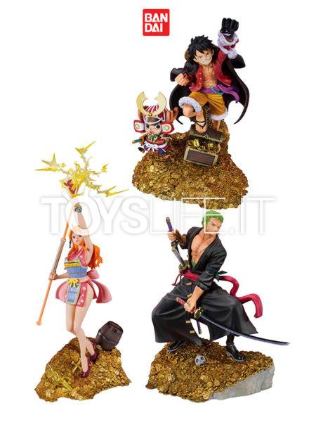 Bandai One Piece Monkey D. Luffy/ Zoro/ Nami by Eiichiro Oda WT100 Daikaizoku Hyakkei Figuarts Zero Pvc Statue