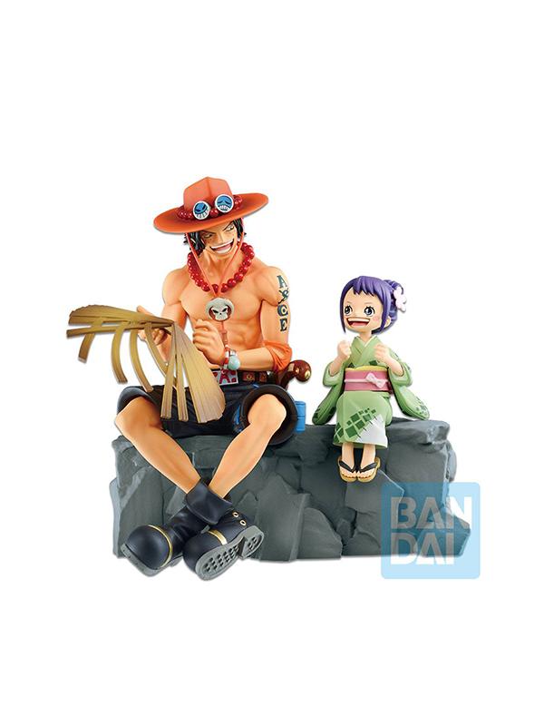 Bandai One Piece Ichibansho Portgas D. Ace & Otama Memorial Vignette Pvc Statue