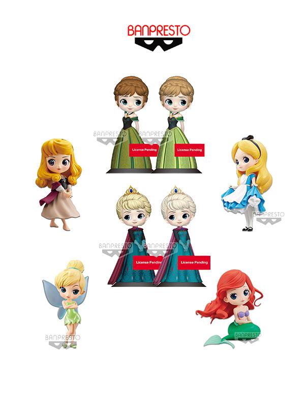 Banpresto Disney Q-Posket Elsa/Anna/Aurora/Alice/Tinkerbell/Ariel