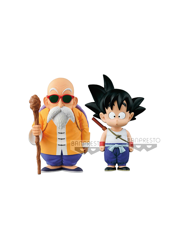 Banpresto Dragonball Original Figure Collection Kid Goku/Master Roshi Pvc Statue
