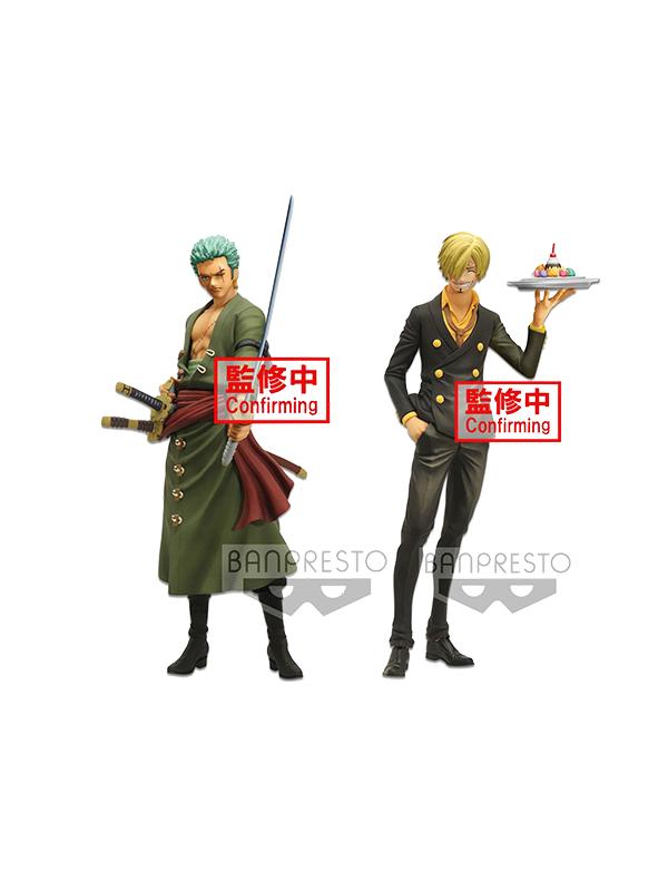 Banpresto One Piece Zoro/ Sanji Grandista Nero Pvc Statue