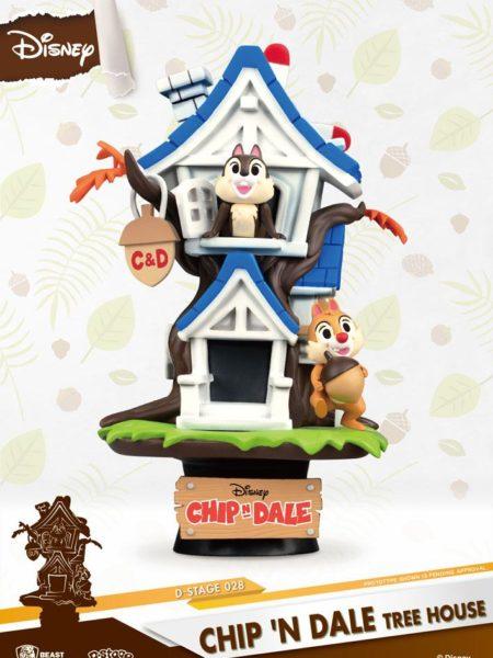 Beast Kingdom Toys Disney Summer Series Chip'n Dale Tree House Pvc Diorama