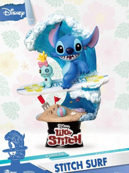 Beast Kingdom Toys Disney Summer Series Stitch Surf Pvc Diorama