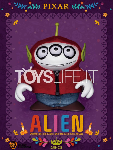 Beast Kingdom Toys Disney Toy Story Alien Remix Miguel Coco DAH 6 Inches Figure