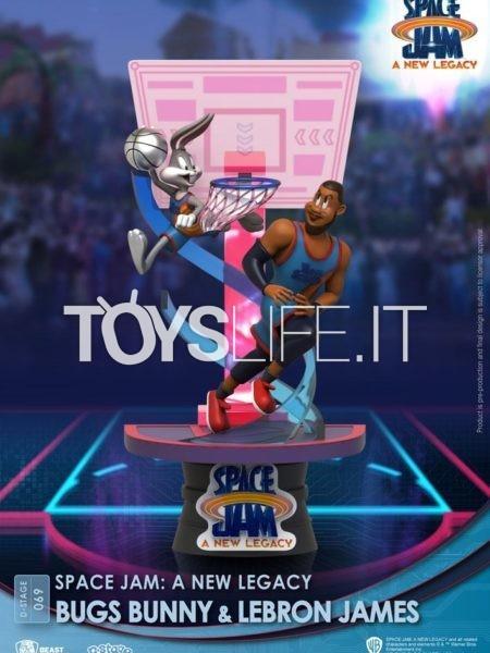 Beast Kingdom Space Jam 2 A New Legacy Bugs Bunny & Lebron James Pvc Diorama