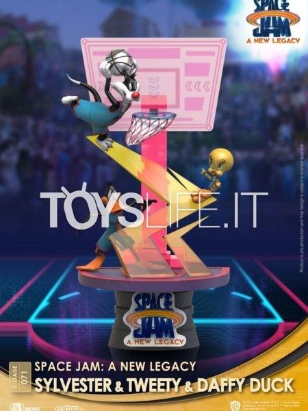 Beast Kingdom Space Jam 2 A New Legacy Sylvester Tweety & Duffy Duck Pvc Diorama