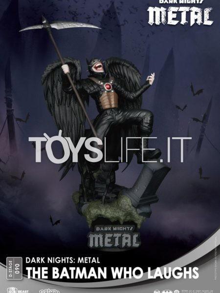Beast Kingdom Toys DC Comics Batman Metal Batman Who Laughts Pvc Diorama