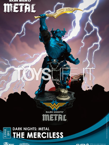 Beast Kingdom Toys DC Comics Batman Metal The Merciless Pvc Diorama