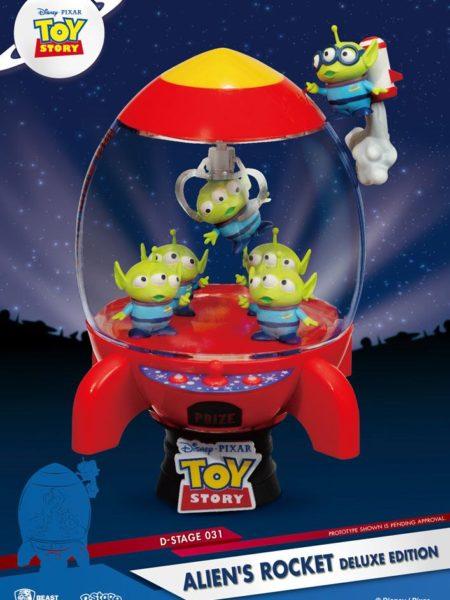 Beast Kingdom Toys Disney Toys Story 4 Aliens Rocket Deluxe Pvc Diorama