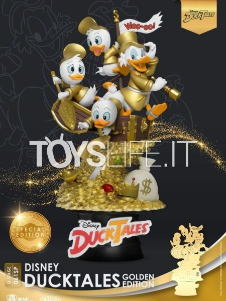 Beast Kingdom Toys Disney Ducktales Pvc Golden Edition Exclusive Diorama