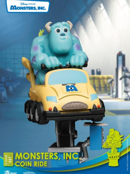Beast Kingdom Toys Disney Monster Inc Mike & Sulley Coin Ride Pvc Diorama
