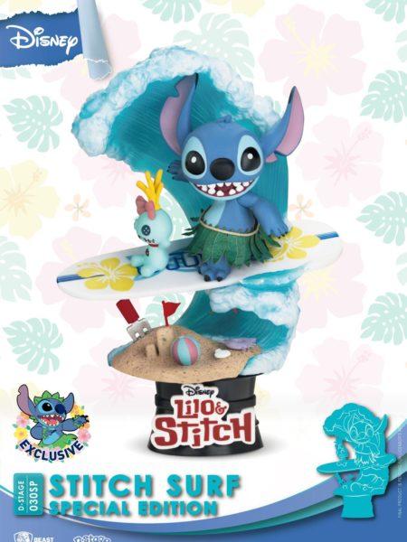 Beast Kingdom Toys Disney Stitch Surf Pvc Limited Edition Diorama