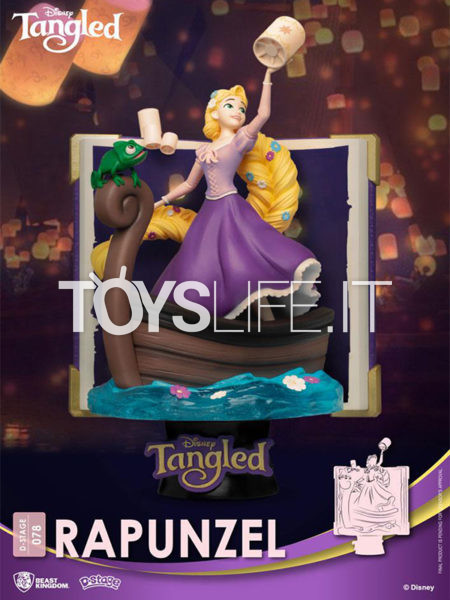 Beast Kingdom Disney Story Book Series Tangled Rapunzel Pvc Diorama