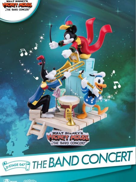 Beast Kingdom Toys Disney Mickey Mouse The Band Concert Pvc Diorama