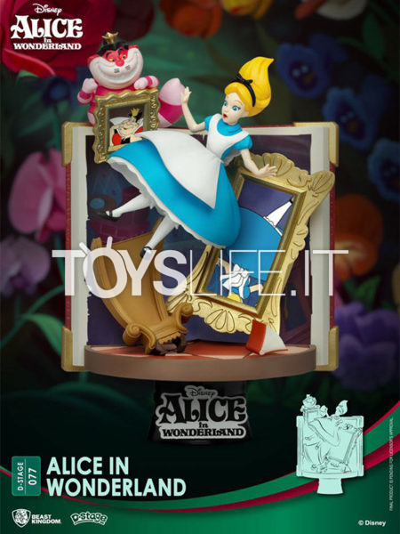 Beast Kingdom Disney Story Book Series Alice In Wonderland Alice Pvc Diorama