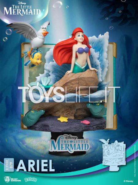 Beast Kingdom Disney Story Book Series The Little Mermaid Ariel Pvc Diorama