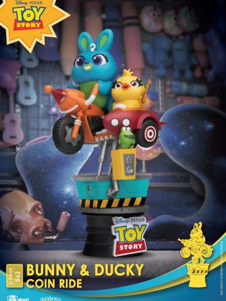Beast Kingdom Toys Disney Toy Story 4 Bunny & Ducky Coin Ride Pvc Diorama