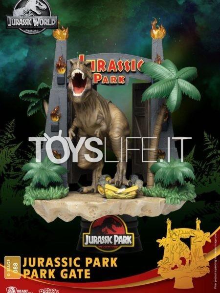 Beast Kingdom Toys Jurassic Park Gate Iconic Scene Movie Scene Pvc Light Up Diorama