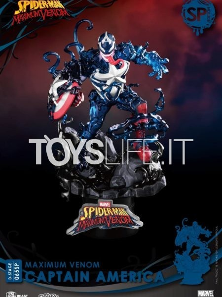 Beast Kingdom Toys Marvel Comics Maximum Venom Captain America Pvc Diorama Special Edition