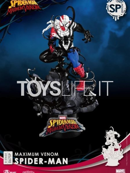 Beast Kingdom Toys Marvel Comics Maximum Venom Spiderman Pvc Diorama Special Edition