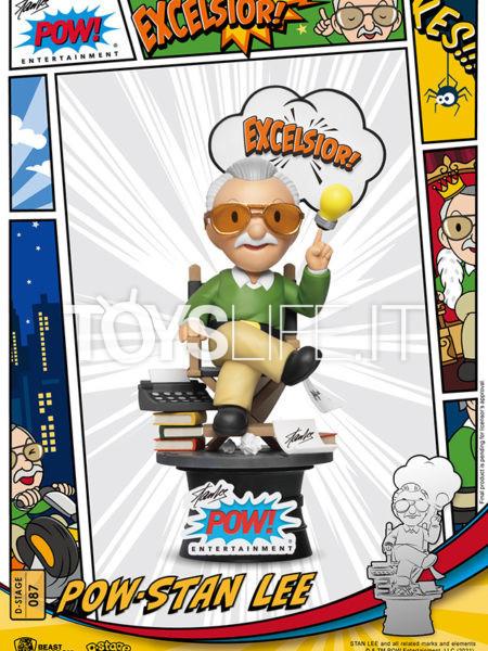 Beast Kingdom Toys Marvel Pow Stan Lee Pvc Diorama