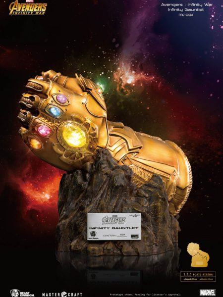 Beast Kingdom Toys Marvel Avengers Infinity War Thanos Infinity Gauntlet Replica