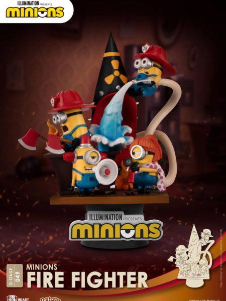 Beast Kingdom Toys Minions Fire Fighters Pvc Diorama