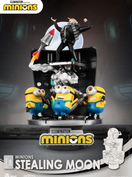 Beast Kingdom Toys Minions Stealing Moon Pvc Diorama