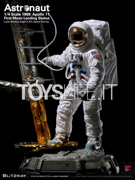 Blitzway Astronaut Apollo 11 LM-5 A7L The Real Superb Scale Hybrid 1:4 Statue